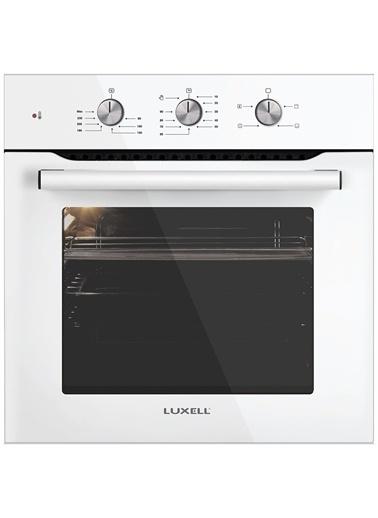 Luxell Luxell Kristal 4 Prg Mt Beyaz Cam Ankastre Set Turbo Fan Beyaz